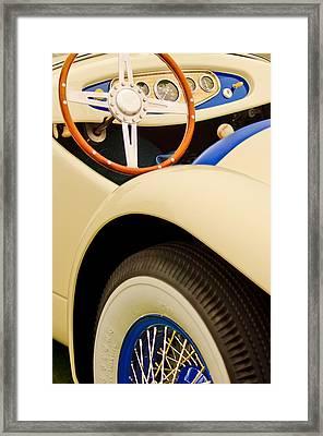 1950 Eddie Rochester Anderson Emil Diedt Roadster Steering Wheel Framed Print by Jill Reger