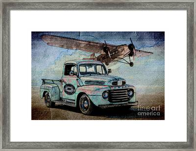 1950 Ford Pickup And Ford Trimotor  Framed Print by Dave Koontz