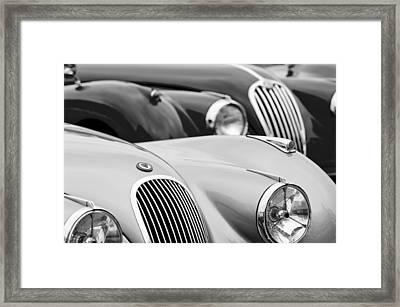 1950 Jaguar Xk120 Roadster Grille 2 Framed Print by Jill Reger