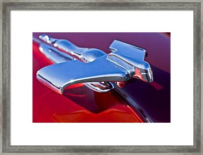 1950 Nash Hood Ornament Framed Print by Jill Reger