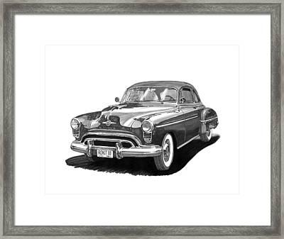 1950 Oldsmobile Rocket 88 Framed Print by Jack Pumphrey