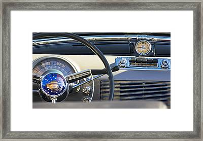 1950 Oldsmobile Rocket 88 Steering Wheel 3 Framed Print by Jill Reger