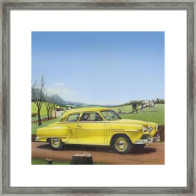 1950 Studebaker Champion - Square Format Image Picture Framed Print by Walt Curlee