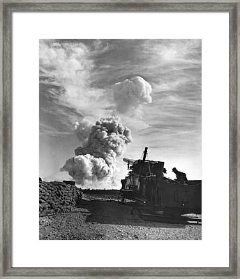 1950's Atomic Cannon Test Framed Print by Underwood Archives