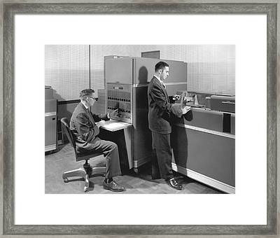1950s Data Machines Framed Print by Underwood Archives
