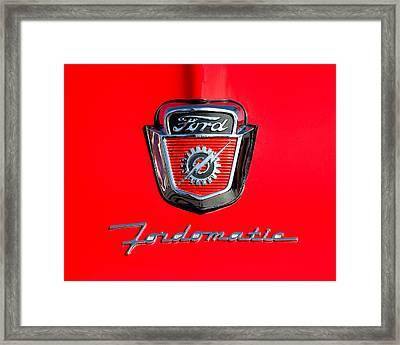 1950's Ford F-100 Fordomatic Pickup Truck Hood Emblems Framed Print by Jill Reger