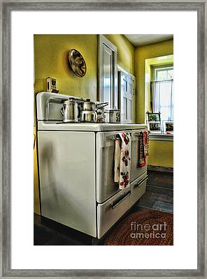 1950's Kitchen Stove Framed Print by Paul Ward