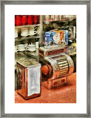 1950's - The Greasy Spoon Framed Print by Mike Savad