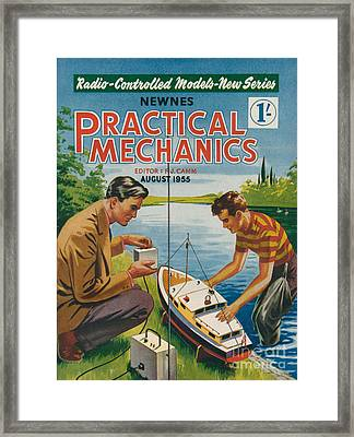 1950s Uk Practical Mechanics Magazine Framed Print by The Advertising Archives
