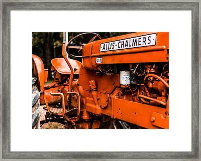 1950s-vintage Allis-chalmers D14 Tractor Framed Print by Jon Woodhams