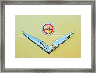 1951 Chrysler New Yorker Convertible Emblem Framed Print by Jill Reger