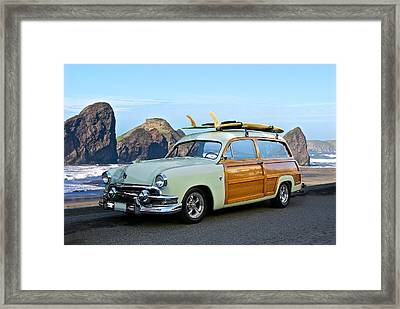 1951 Ford 'woody' Wagon Framed Print by Dave Koontz
