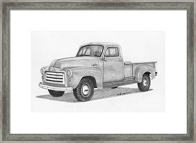 1951 Gmc Pickup Truck Framed Print by Rita Palmer