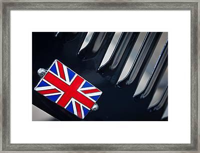1951 Jaguar Proteus C-type British Emblem Framed Print by Jill Reger