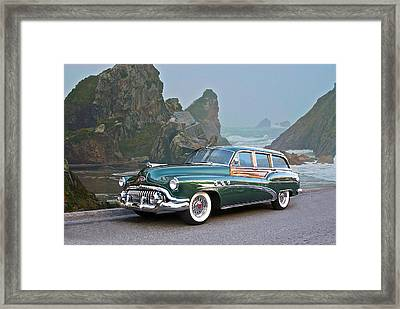 1952 Buick 'woody' Estate Wagon Framed Print by Dave Koontz
