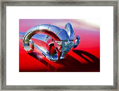 1952 Dodge Ram Hood Ornament 2 Framed Print by Jill Reger