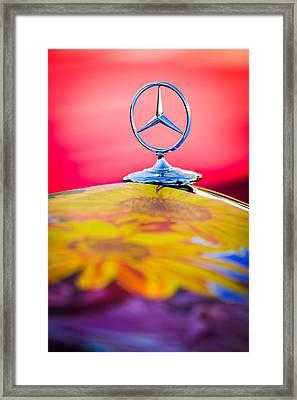 1952 Mercedes-benz 220 A Cabriolet Hood Ornament Framed Print by Jill Reger