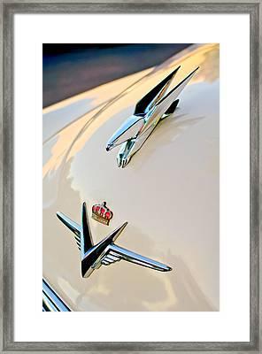 1953 Chrysler Imperial Custom Hood Ornament Framed Print by Jill Reger