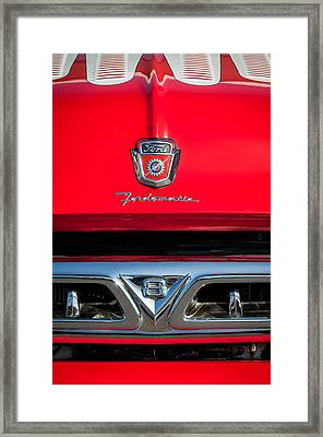 1953 Ford F-100 Fordomatic Pickup Truck Grille Emblems -0108c Framed Print by Jill Reger