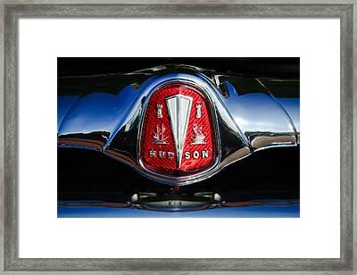 1953 Hudson Hornet Sedan Emblem Framed Print by Jill Reger