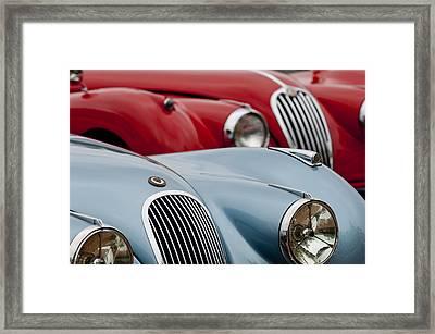 1950 Jaguar Xk120 Roadsters -1366c Framed Print by Jill Reger