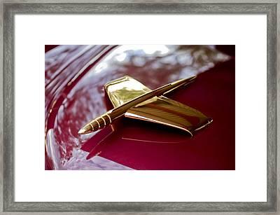 1953 Kaiser Golden Dragon Hood Ornament 3 Framed Print by Jill Reger