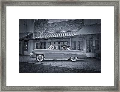 1953 Mercury Monterey Bw Auf Deutsch Framed Print by David Morefield