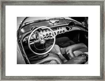 1954 Chevrolet Corvette Interior Framed Print by Paul Velgos
