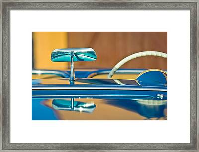 1954 Chevrolet Corvette Steering Wheel -311c Framed Print by Jill Reger