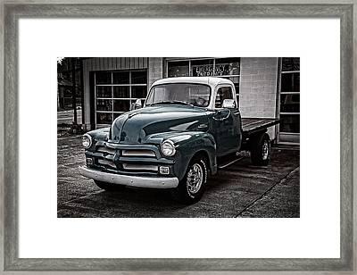 1954 Chevy Truck Framed Print by Debra and Dave Vanderlaan