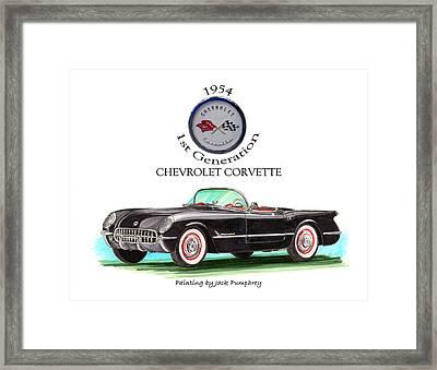 1954 Corvette First Generation Framed Print by Jack Pumphrey