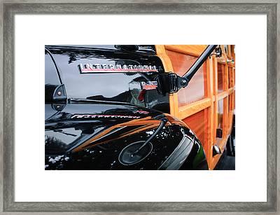 1954 International Harvester R140 Woody Wagon  Framed Print by Jill Reger