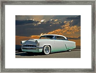 1954 Mercury Retro Custom Framed Print by Dave Koontz