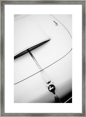 1954 Pegaso Z-102 Saoutchik Coupe Hood Emblem -0583bw Framed Print by Jill Reger