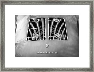 1954 Porsche Spyder Rear Emblem -0042bw Framed Print by Jill Reger