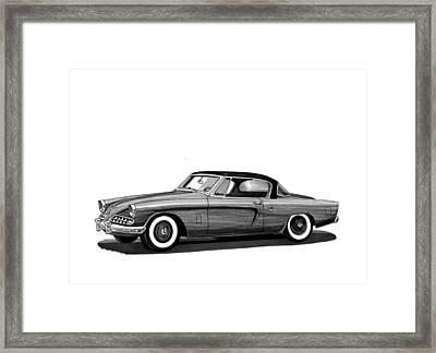 1954 Studebaker Skyliner Framed Print by Jack Pumphrey