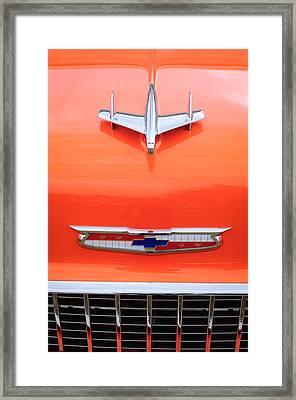 1955 Chevrolet 210 Resto Mod Hood Ornament Framed Print by Jill Reger