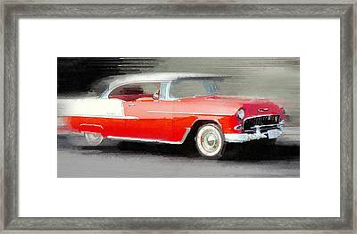 1955 Chevrolet Bel Air Coupe Watercolor Framed Print by Naxart Studio