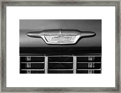 1955 Chevrolet Pickup Truck Emblem Framed Print by Jill Reger