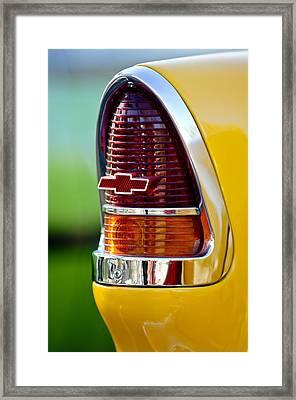 1955 Chevrolet Taillight Emblem Framed Print by Jill Reger