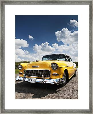 1955 Chevrolet Framed Print by Tim Gainey