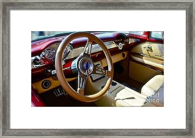 1955 Chevy Nomad Framed Print by Linda Bianic