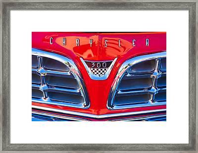 1955 Chrysler C-300 Grille Emblem Framed Print by Jill Reger
