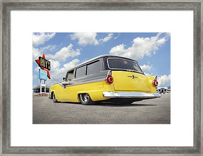 1955 Ford Parkline Low Framed Print by Mike McGlothlen