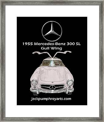 1955 Mercedes Benz 300 S L Gull Wing Framed Print by Jack Pumphrey