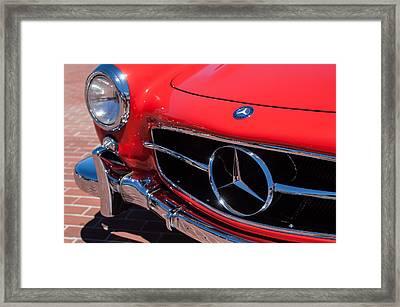 1955 Mercedes-benz 300sl Gullwing Grille Emblems Framed Print by Jill Reger