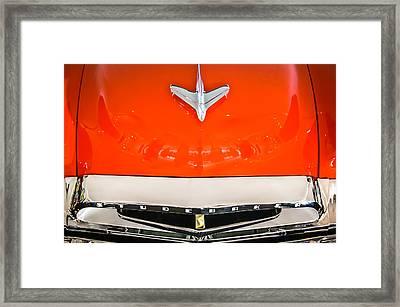 1955 Studebaker Champion Conestoga Custom Wagon Hood Ornament - Grille Emblem -0325c Framed Print by Jill Reger