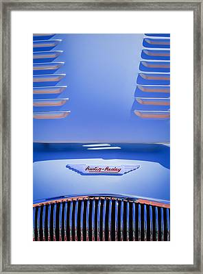 1956 Austin-healey 100m Bn2 'factory' Le Mans Competition Roadster Hood Emblem Framed Print by Jill Reger