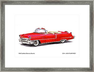 1956 Cadillac Series 62 Convertible Framed Print by Jack Pumphrey