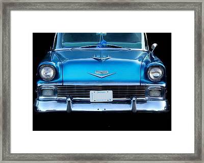 1956 Cheverolet In Blue Framed Print by Davandra Cribbie